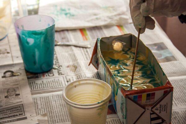 oslikavanje sapuna